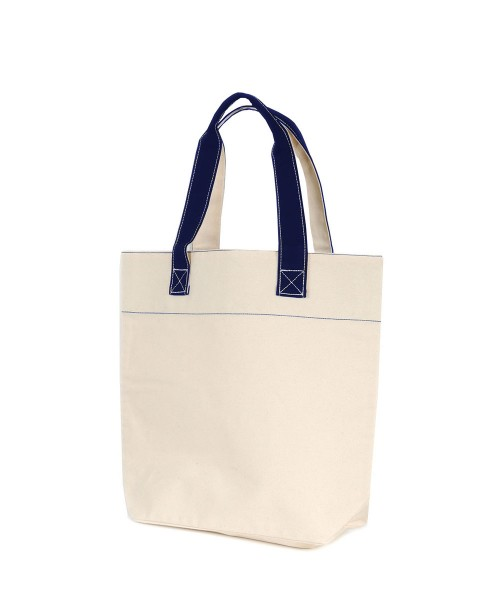 Canvas bag with navy handles