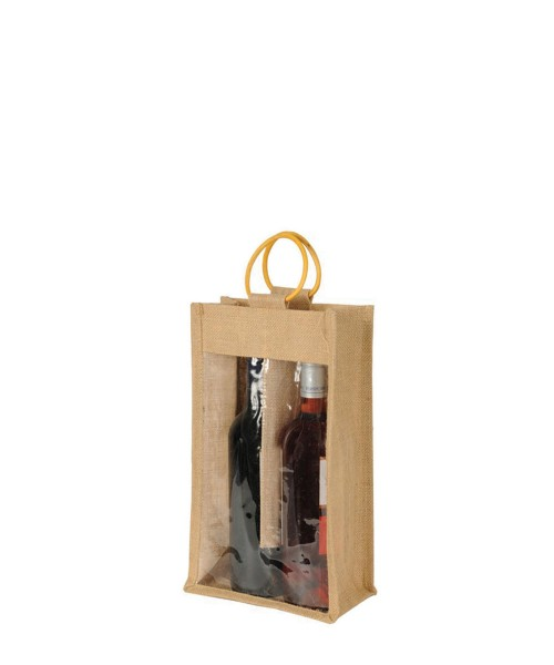 2 Bottle Bag With Window