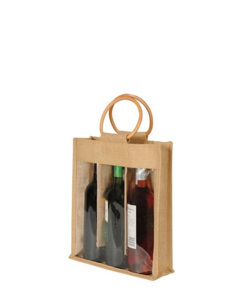 3 Bottle Bag With Window