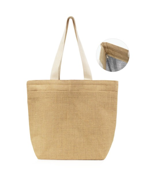 Chugu Jute Cooler Bag with Zipper