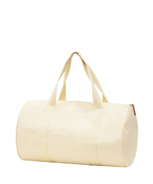 canvas Duffel with Leather Puller