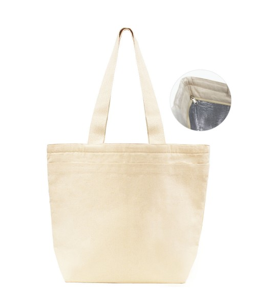 Panya Canvas Cooler Bag with Zipper